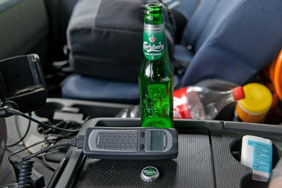 Dricker öl i lastbilen under arbetstid - det kallar jag kvalitétstid :)