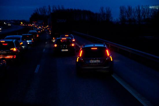 Volvon går ut och blockerar VIP-filen