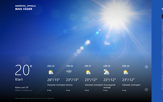 Vädret är ett populärt ämne