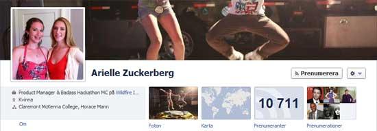 Arielle Zuckerberg jobbar för Google