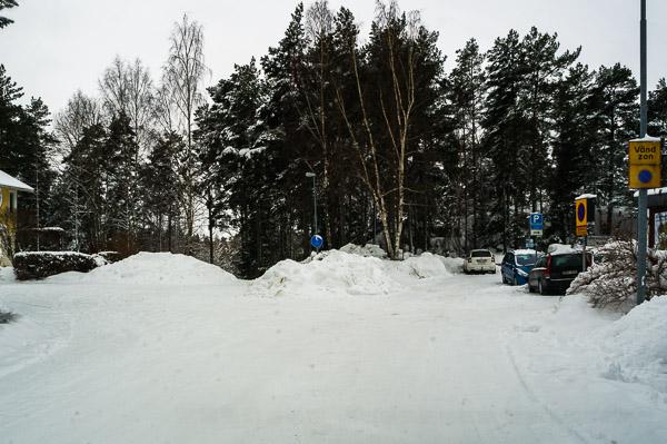 Snövall i vändzonen